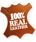 100% real leather