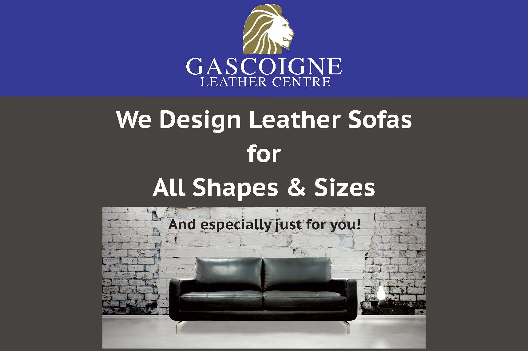 we design sofas for all shapes and sizes