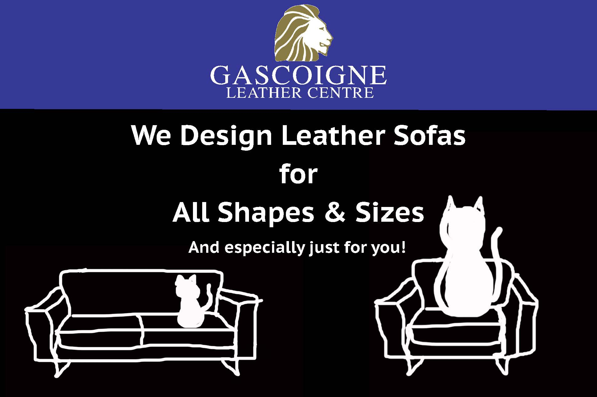 We design leather sofas for all shapes & sizes